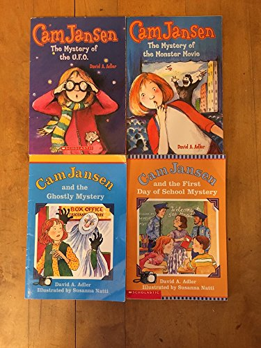 Books : Cam Jansen 6 Book Set (Mystery of the UFO, Mystery of the Monster Movie, Ghostly Mystery, First Day