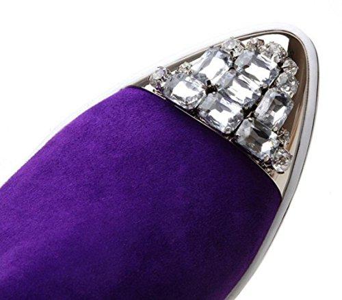 Mettent Cuir Chaussures Dames Des En Des Occasionnels Femmes Des Pour MUYII Pointues Black Mocassins RfSYUqww6