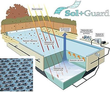 WikiCover GeoBubble Sol-Guard Cobertor Solar térmico de Burbuja para Piscina, Traslúcido, 1000x500x0.6 cm