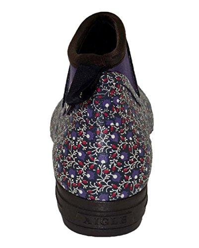 Aigle Landfor, Chaussures Multisport Outdoor Femme blau geblümt