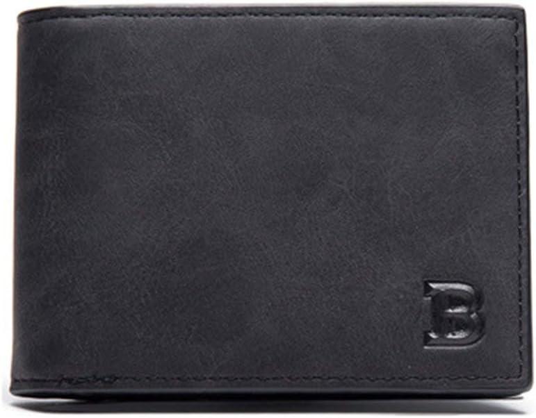 Persdico Fashion Man Male Wallet Purse Card Place Cash Coin Bag Cremallera plegable corta Color sólido Soft PU Leather Small Clutch Handbag