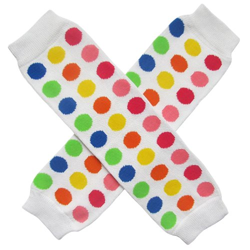 Halloween Costume Spooky Styles Holiday Leg Warmers - One Size - Baby, Toddler, Girl (Clown - Lots of Polka Dots II)