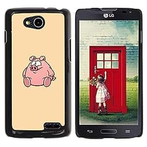 Be Good Phone Accessory // Dura Cáscara cubierta Protectora Caso Carcasa Funda de Protección para LG OPTIMUS L90 / D415 // Round Fat Cute Cartoon