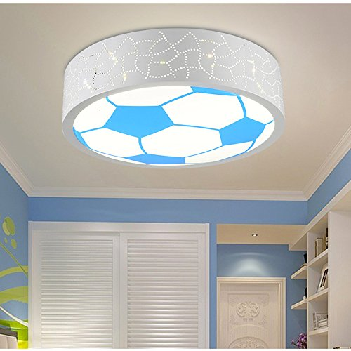 Leihongthebox Ceiling Lights lamp Children's Room lamp led ceiling light for boys and girls lovely basketball football children Ceiling lamp for Hall, Study Room, Office, Bedroom, Living Room,400mm