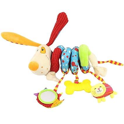 Sunshine D Juguetes Colgantes Espiral de Animales para Cuna Cochecito Carrito bebés Espiral Actividades Colgar Juguetes con Peluche Mordedor para ...
