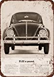 1963 Volkswagen Vintage Look Reproduction Metal Signs 12X16 Inches