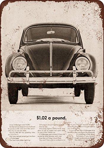 1963 Volkswagen Vintage Look Reproduction Metal Signs 12X16