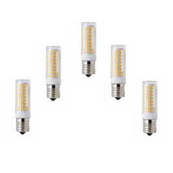 GHC LED Bombillas, E17 Bombilla LED Regulable Horno de microondas Luz 5 vatios AC110-130V 3000K / 6000K 102X2835SMD 400-450LM 5-Pack (Color : Blanco ...