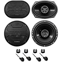 2003-2005 Dodge Ram 2500/3500 Hifonics Front+Rear Speaker Replacement Kit