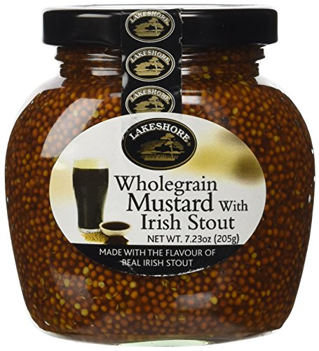 (Lakeshore Wholegrain Mustard with Irish Stout, 7.23 Ounce)