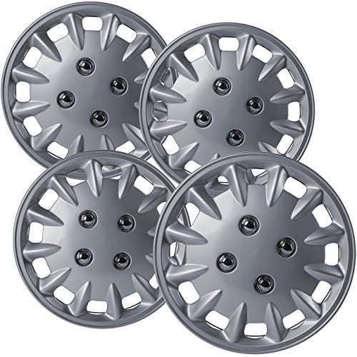 - Hubcaps 13 inch Wheel Covers - (Set of 4) Hub Caps for 13in Wheels Rim Cover - Car Accessories Silver Hubcap Best for 13inch Cars Standard Steel Rims - Snap On Auto Tire Replacement Exterior Cap