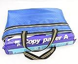 Funnylive Set of 5;Document File Holder Zipper File Bags Football Shape Shopping Bags Multicolor Double Zip Pocket Handbag ( A4 Size, Random Color )