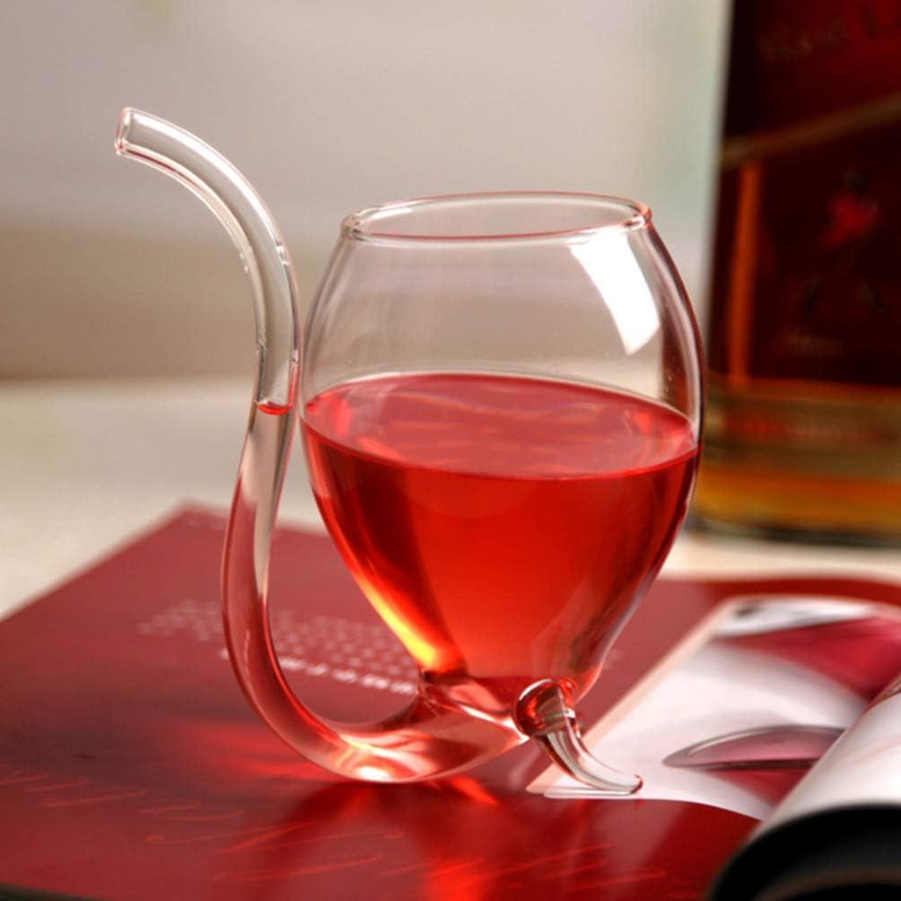 UPKOCH 4 st/ücke weinkaraffen eichh/örnchen Design Premium Glas Rotwein anter Glas Becher saft tassen Wein zubeh/ör f/ür Home bar Nachtclub