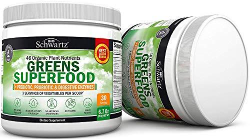 46-Organic-Plant-Nutrients-Greens-Superfood-Prebiotic-Probiotic-Digestive-Enzymes-Super-Greens-for-Energy-Digestive-Support-Fruit-Veggie-Powder-3-Servings-of-Vegetables-per-Scoop