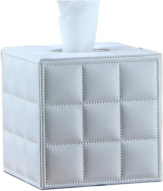 Xink-zjh Caja de pañuelos Caja de pañuelos de Cuero Cubos Cube Car Load Tissue Holder Home Living Room Square Servilleta Bandeja Office Coffee Paper Towel Dispenser Stands escritorios y mesas: Amazon.es: Hogar