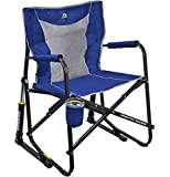 GCI Outdoor Freestyle Rocker Mesh Chair (Royal Blue) For Sale