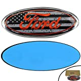 Shenwinfy Front Tailgate Emblem for 04-14 F150 F250 F350 Ford - Oval 9