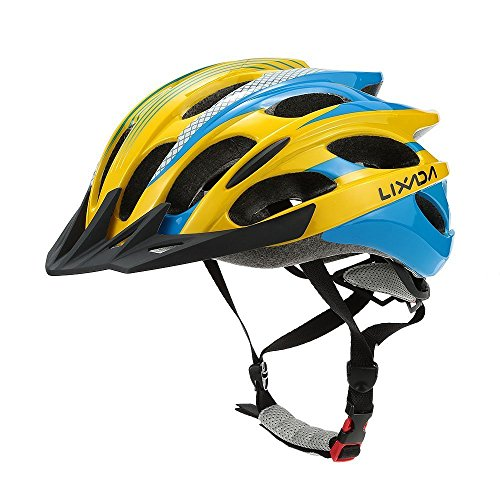 Lixada Bicycle Helmet Mtb/Road Bike Helmets Cycling Mountain Racing, Men Women Keep Safety, Adult Child Kids, with 25 Vents Adjustable Ultralight Integrally-molded -  MFRY0755P