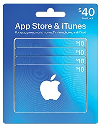 Amazon.com: App Store & iTunes Gift Cards, Multipack of 4