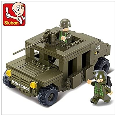 Sluban M38-B0297 175 bricks Hummer squad car Building Block Set 100% Lego compatible: Toys & Games