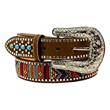 Blazin Roxx Western Belt Womens Beaded Stones XL Multi-Color N3522444