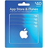 App Store & iTunes Gift Cards, Multipack of 4 - $10, Design May Vary
