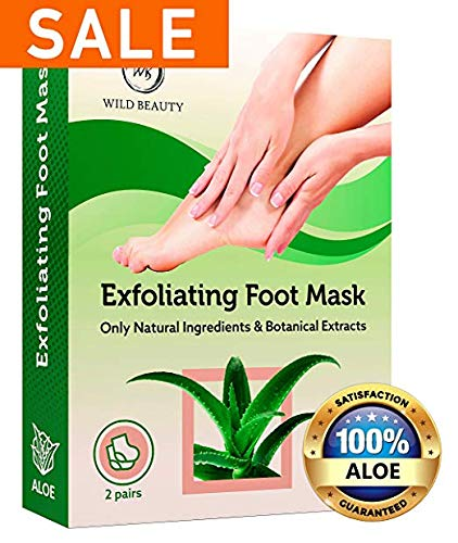 NEW 2019 Exfoliating Foot Peel Mask For Soft Touch 2 Pairs Baby Foot Peel - Peeling Away Calluses Dead Skin Remover for Feet - Repair Rough Heels - Lavender Baby Feet