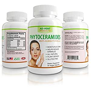 Phytoceramides Anti-Aging Skin,Ceramides Skin Supplements, Healthy Skin Capsules