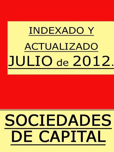 Descargar Libro Tr Ley De Sociedades De Capital Con índice Iustindle