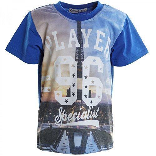 Jungen T Shirt Sommer Boy Bluse Kurzarm Shirts Short Sleeve Sweat Hemd 20302