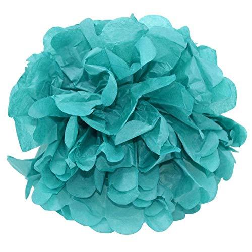 VDV Artificial Flowers 1 Pcs Party Wedding Decorative Paper Pompoms Pom Pom Paper Pom Poms Balls Flowers Home Decor for Wedding Party Supplies 20 Artificial Flowers-FB14teal (Desperate Housewives Best Moments)