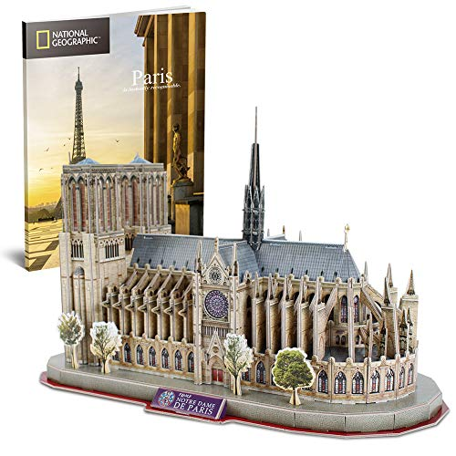 CubicFun National Geographic 3D Puzzle Architectural Model Kits as Souvenirs Gifts for Notre Dame de Paris, France