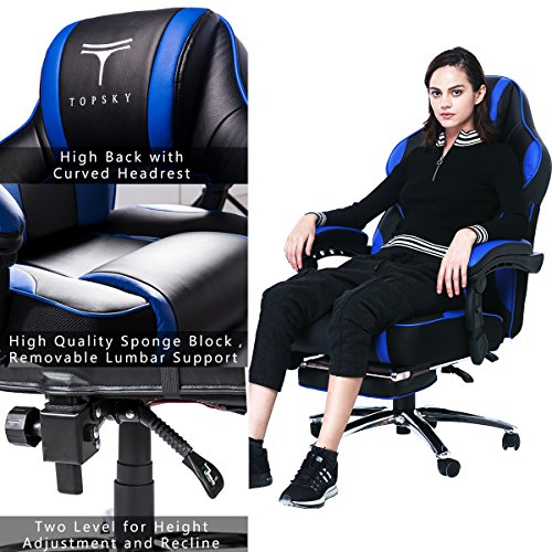 Topsky High Back Racing Style Pu Leather Computer Gaming