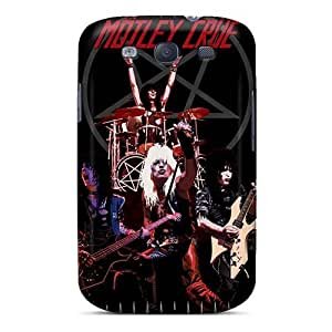 Shock Absorption Cell-phone Hard Covers For Samsung Galaxy S3 With Unique Design Attractive Motley Crue Band Series AshtonWells