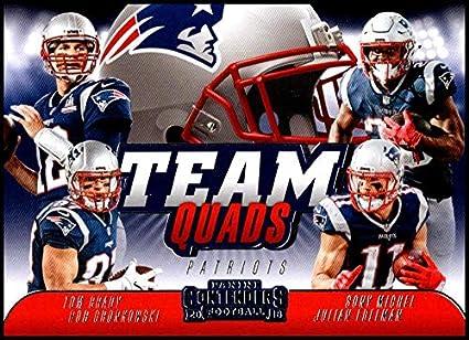 Amazon.com  2018 Contenders Team Quads Football  TQ-1 Julian Edelman ... 5a9254348