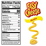 Easy Cheese Cheddar Cheese Snack, 8 oz
