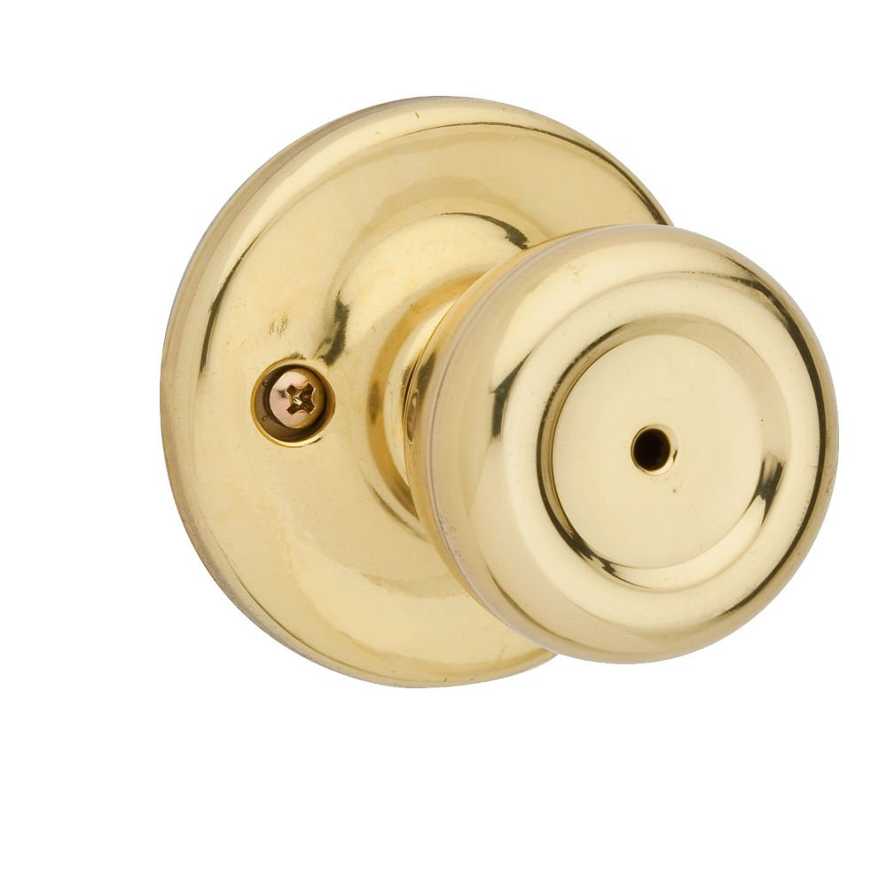 Kwikset 300M 3 CP Mobile Home BedBath Knob Polished Brass