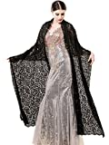 Yean Women Black Lace Wraps Lightweight Shawl Evening Dress Scarf Spring Bolero Long Soft Scarves YLB-523
