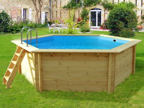 Viva Pool – Piscina madera Hexa – 4.30 x 1.24 m: Amazon.es: Jardín