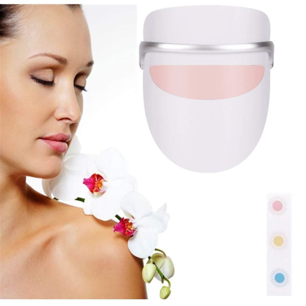 家庭用光療法にきび治療LEDマスク顔療法にきびスポット顔肌治療 - 赤/青/オレンジのライト B07TS36XR7