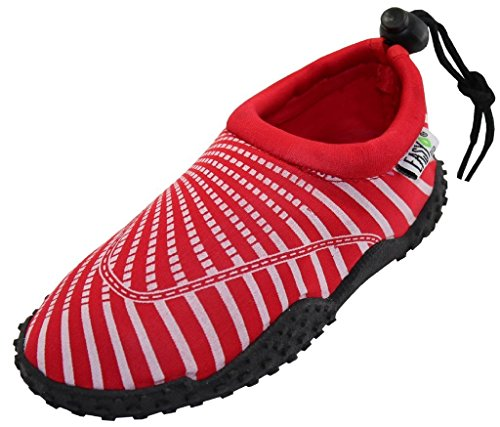 The Wave Womens Water Shoes Aqua Socks Pool Beach, Yoga, Dance And Exercise 1177 Red 11