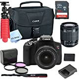 Canon T6i Digital SLR Camera Kit with EF-S 18-55mm Lens (Black) with Free SanDisk Ultra 32GB SDHC Card