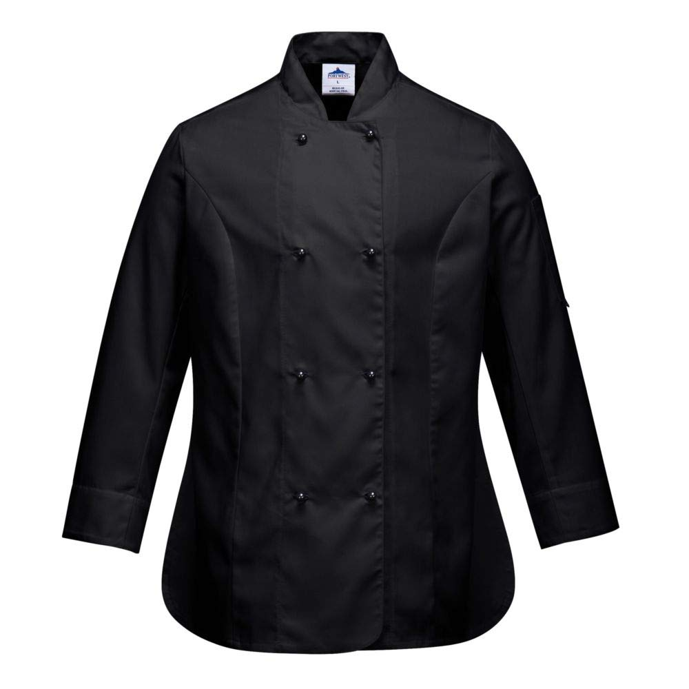Rachel Ladies Long Sleeve Chefs Jacket C837BKRXS