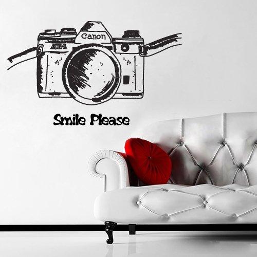 Amazon Com Wall Decal Hand Drawn Camera Art Photo Salon Sign Board