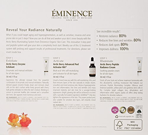 Eminence Arctic Berry Peel and Peptide Illuminating System, 1 Count