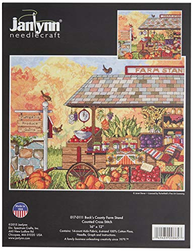 Janlynn 017-0111 Buck's County Farm Stand Counted Cross Stitch Kit, 16 x 12 from Janlynn