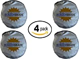 Windshield Sun Shade - 4-Pack - Jumbo XL (70 x 35 inches) Car Window Shade - Easy to Use Folding Shade - Keeps Car Cool - Pop-Up Style - Great Fit for Vans, SUVs and Trucks