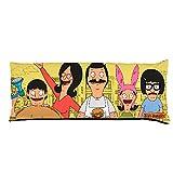 Pillowcase Bobs Burgers Belcher Family Group Pose8 City Sketch Yellow Body