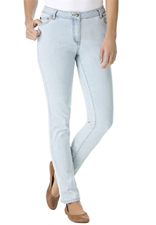 Amazon.com: Women's Plus Size Petite Skinny Stretch Jean: Clothing
