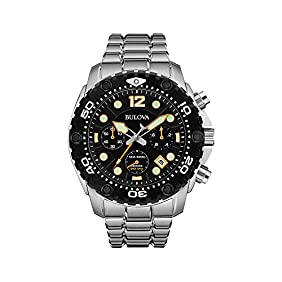 Bulova Men's Black Dial Chronograph Watch